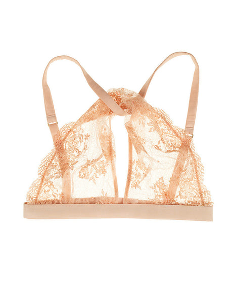 Mimi Holliday - Ever Yours Lace Silk Twist Bra in Peach