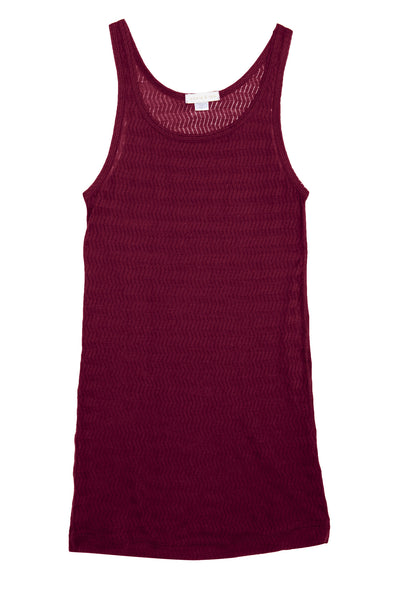 Sloane & Tate - Beachwood Tank in Chevron Burgundy