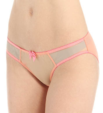 Claudette - Dessous Bikini in Orange Soda with Strawberry Cream Trim