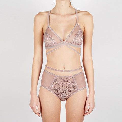 Lonely Hearts - Winona Softcup Bra in Amethyst