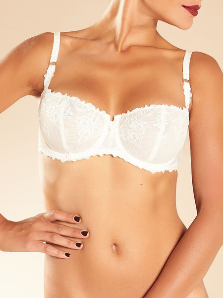 Chantelle - Elysees Lace Unlined Demi Bra in Ivory