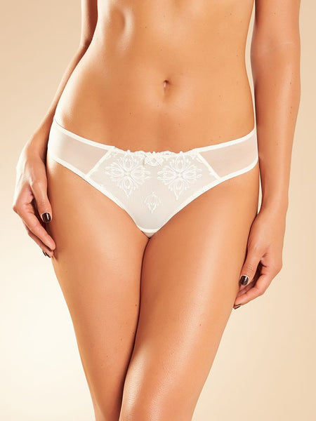 Chantelle - Champs Elysees Lace Thong in Ivory