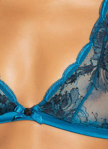 L'Agent by Agent Provocateur - Dani Soft Cup Bra in Teal & Black