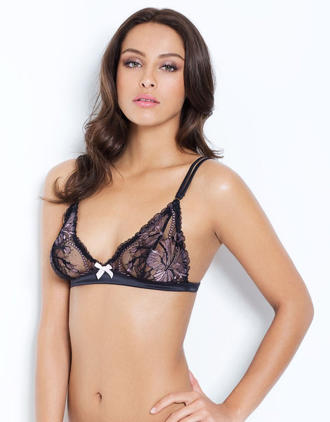 L'Agent by Agent Provocateur - Macie Soft Cup Bra in Black & Pink