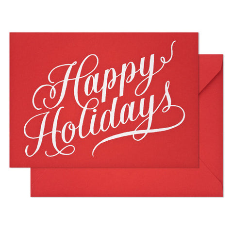 Sugar Paper - Red Holliday Card