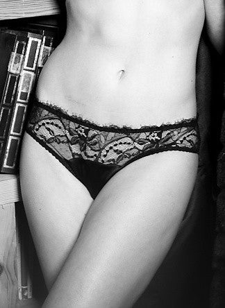 Fleur of England - Signature Collection Black Lace Brief