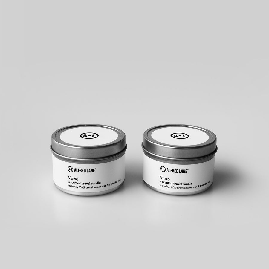 Verve and Gusto Travel Candle Set