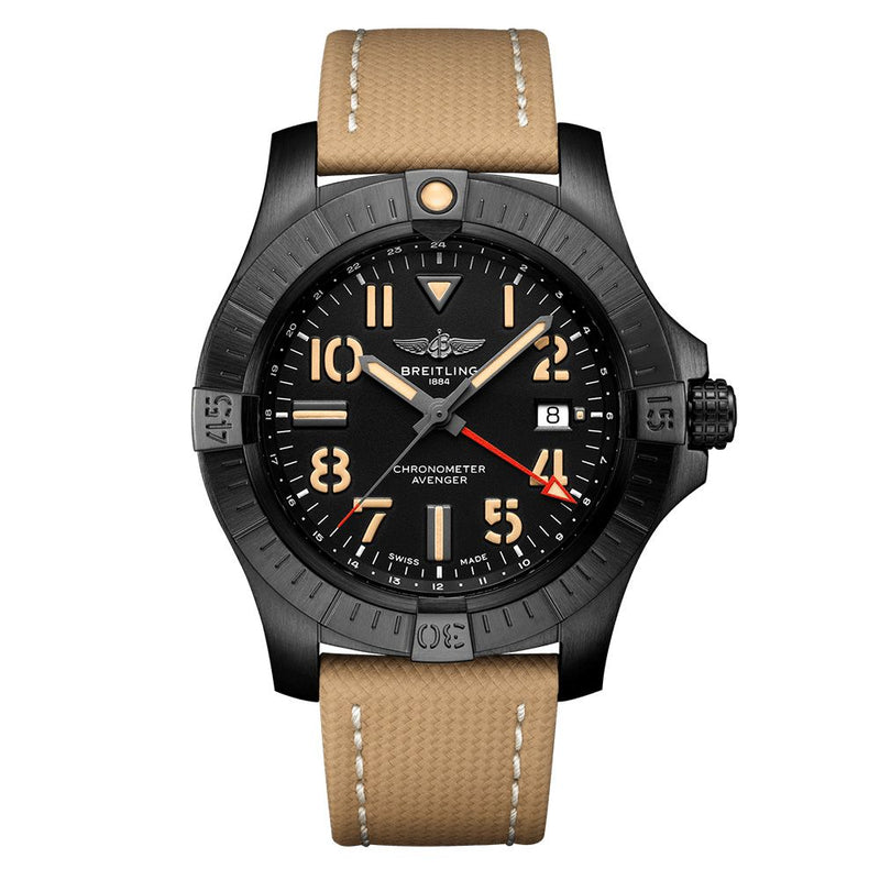 BREITLING AVENGER AUTOMATIC GMT 45 NIGHT MISSION TITANIUM