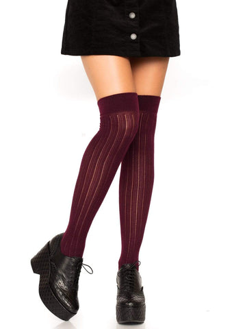 Burgundy Thigh High Sock Leg Warmers Leg Avenue