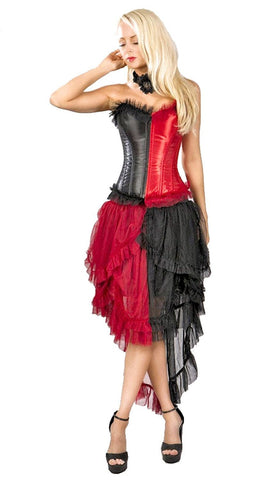 Burleska Harlequin Costume Corset and Skirt Set Burleska