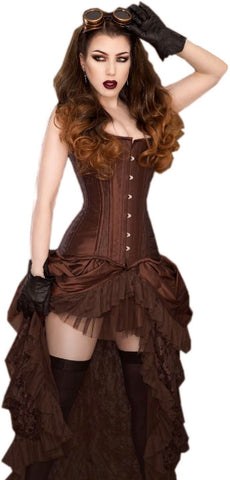 Burleska Steampunk Corset and Skirt Costume Set Burleska