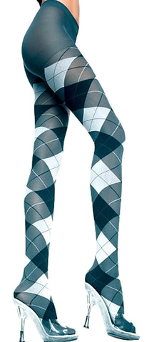 Classic Argyle Pantyhose Tights Leggings Music Legs