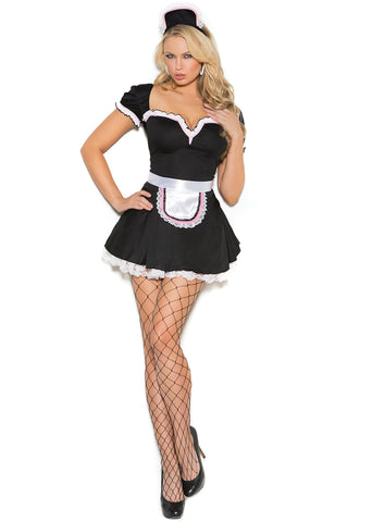 Classic French Maid Servant Costume Outfit 5 Piece Set Elegant Moments