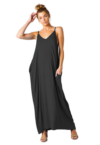 Rayon Knit Full Length Harem Maxi Dress Beach Cover up