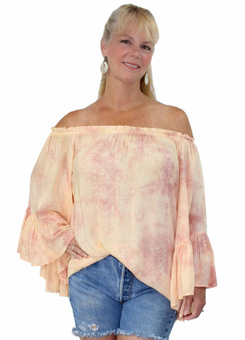 ELAN Off-Shoulder Flutter Sleeve Tunic Top Beach Cover Up Elan