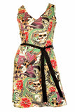 Folter Rockabilly Dress Marked For Life Tattoo Print Folter Clothing