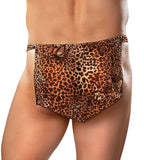 Men's Leopard Jungle Loincloth Tarzan Thong Bikini Male Power