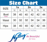 Nyteez Women's Plus Size 3/4 Sleeve Chiffon Tunic Top Symphony