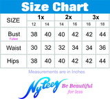 Nyteez Women's Plus Size Sleeveless Party Salsa Dance Dress Symphony