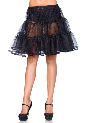 Petticoat Skirt, Knee Length Organza Leg Avenue