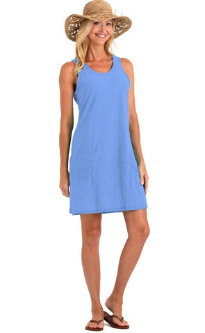 Plus Size Cotton Slub Knit Tank Lounge Dress Nightgown Cover Up Nyteez
