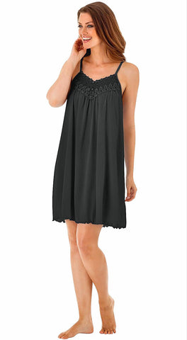 Shadowline Beloved Sleeveless Short Chemise Nightgown Shadowline