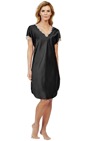 Shadowline Charming Satin Charmeuse Nightgown Sleep Shirt 4503 Shadowline