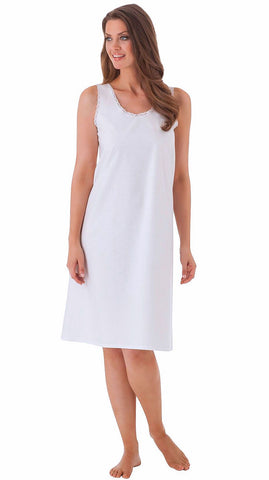 Shadowline Cool White Cotton Full Slip Style 801 Velrose