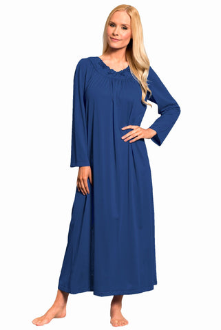 Shadowline Petals 53 Inch Long Sleeve Gown 33280 Shadowline