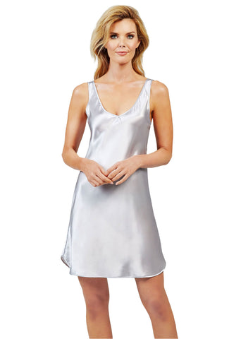 Shadowline Satin Essentials Wide Strap Chemise Nightgown Slip Shadowline