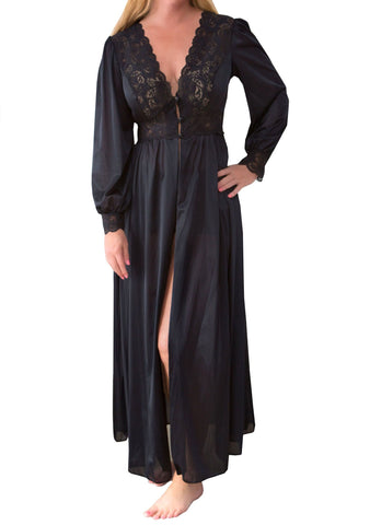 Shadowline Silhouette Lace Bodice Long Robe - 71737 Velrose