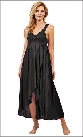 Shadowline Silhouette New High Low Vintage Style Nightgown Shadowline