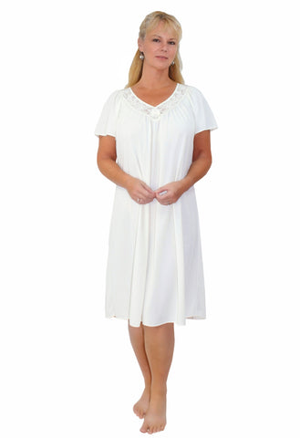 Shadowline Twilight Waltz Length Short Sleeve Nightgown Shadowline