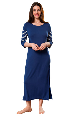 Shadowline Women's Long Nightgown Before Bed Modal Lounge Dress Shadowline