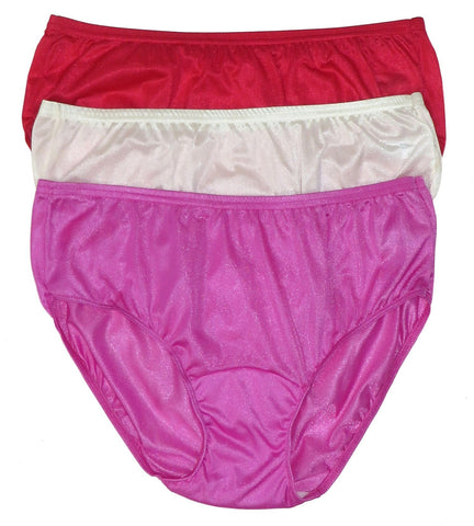 Shadowline Women's Nylon Hipster Panty 3-Pack Assorted 11032 Shadowline