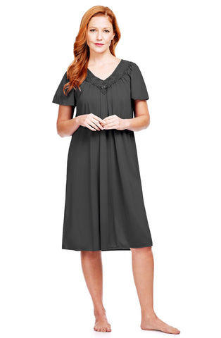 Shadowline Twilight 40 Inch Short Sleeve Nylon Nightgown 36150