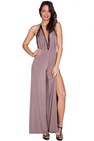 Women's Casual Summer V-Neck Wide Leg Jumpsuit Nyteez