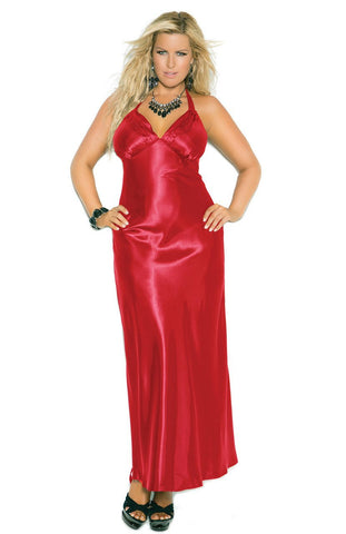 Women's Elegant Long Satin Nightgown Elegant Moments