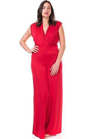 Women's Plus Size Casual Summer Wide Leg Jumpsuit Nyteez