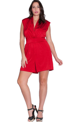 Women's Plus Size Sleeveless Short Jumpsuit Romper Nyteez