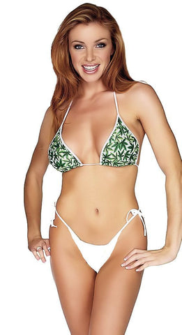 Women's Pot Leaf String Bikini Swimsuit Set Shelby Swim