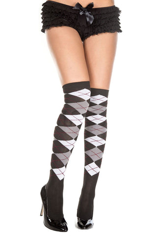 Women's Thigh High Over the Knee Socks Music Legs