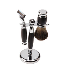 Col Conk Black & Chrome Mach 3 Shave Set