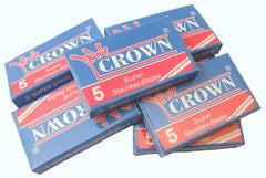 Crown Super Stainless Double Edge Razor Blades - 10 Ct