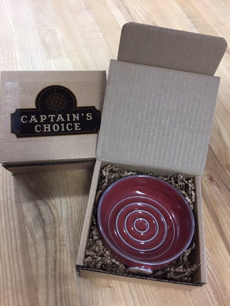 Captain's Choice Original Lather Bowl - Cayenne