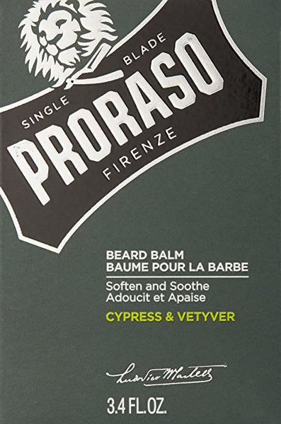 Proraso Single Blade Beard Balm, Cypress/Vetyver