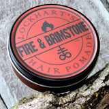 Lockhart's Heavy Hold Fire and Brimstone Pomade 4 oz