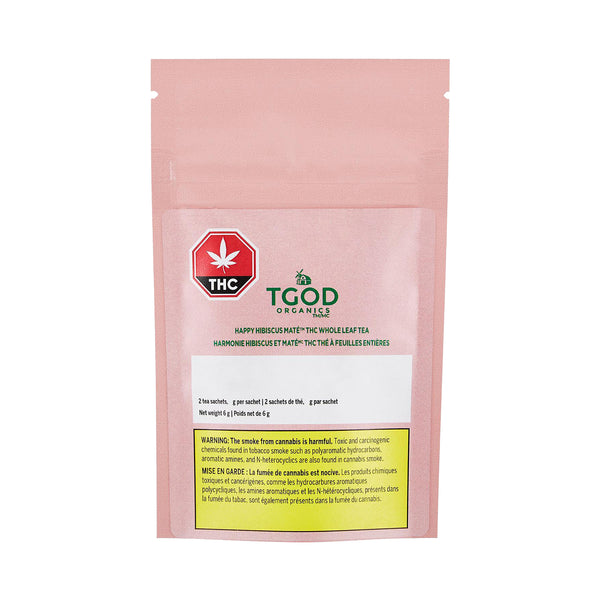 Organic Happy Hibiscus Maté 5.0mg THC Tea