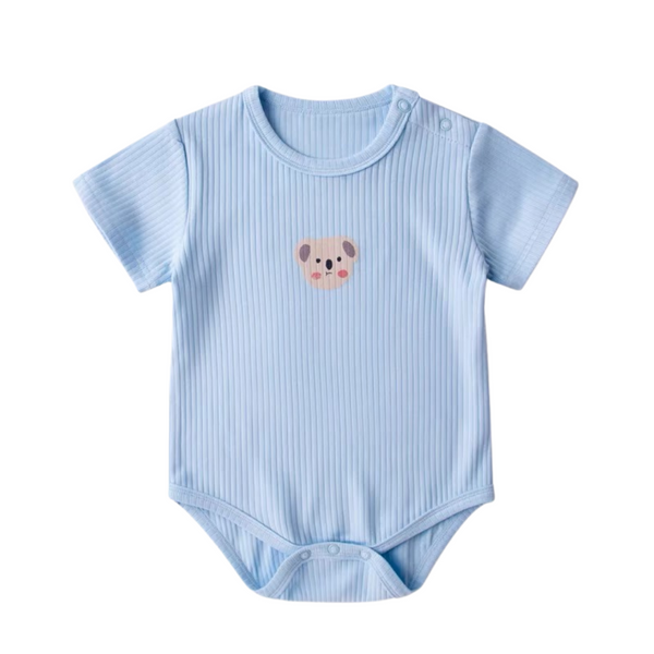 Cotton Ribbed Bodysuit Koala