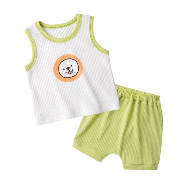 Ribbed Cotton Sleeveless Set Puppy